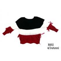 BJ02 BLACK/WHITE/RED
